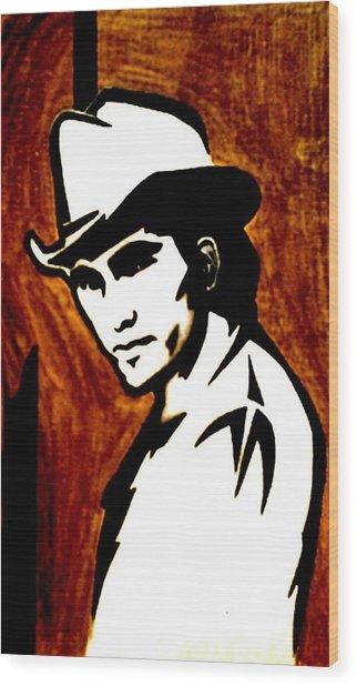 Townes Van Zandt Wood Print