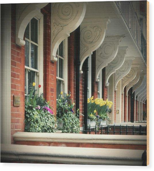 Townhouse Row - London Wood Print