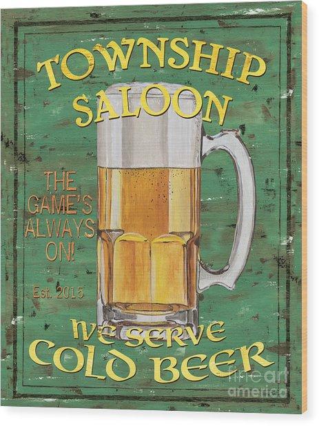 Township Saloon Wood Print
