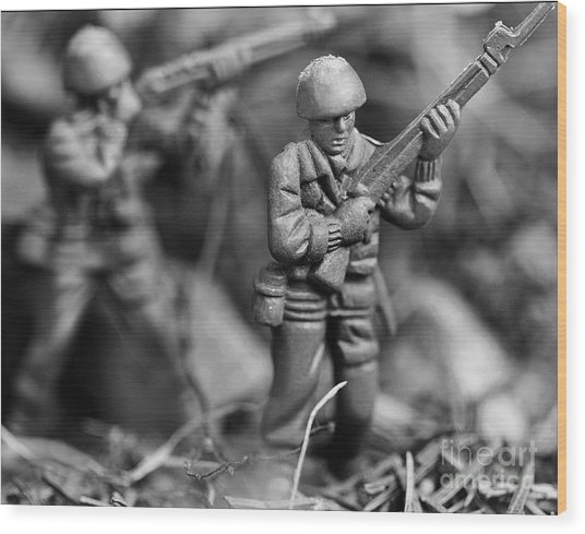 Toy Soldiers Wood Print by Randy Steele