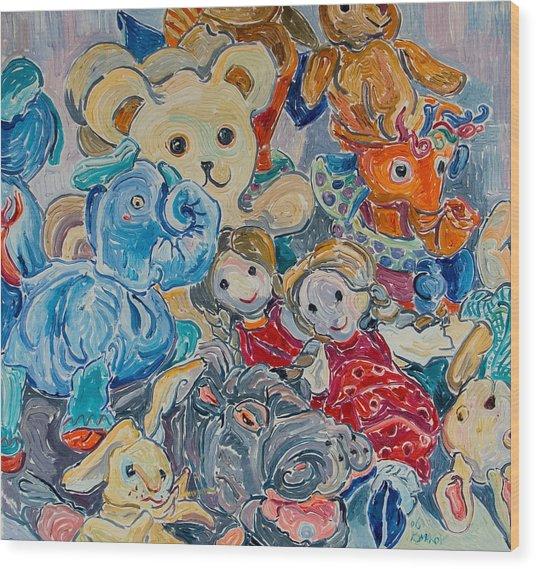 Toys Wood Print by Vitali Komarov