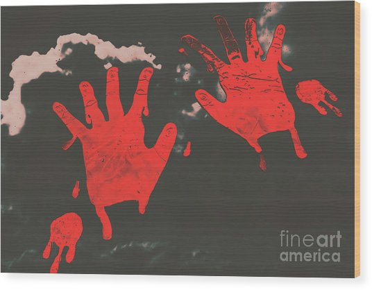 Trace Of A Serial Killer Wood Print