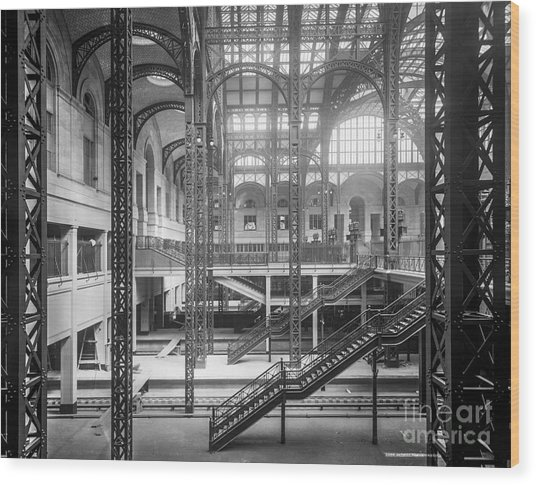 Track Level And Concourses Pennsylvania Station New York Wood Print