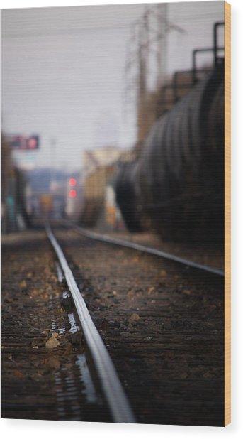 Track Life Wood Print