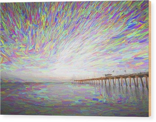 Tracking The Sky II Wood Print