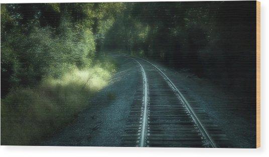 Tracks Through Time Wood Print