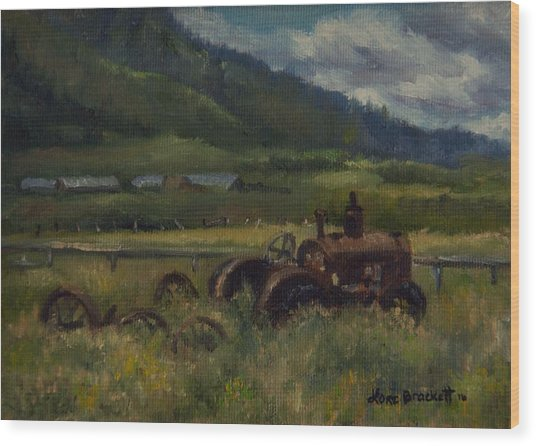 Tractor From Swan Valley Wood Print
