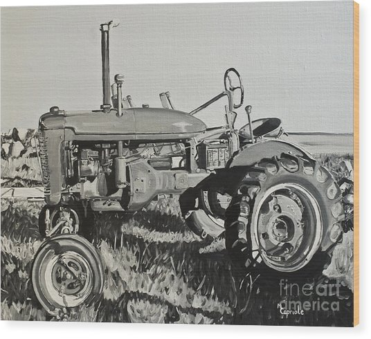 Tractor Wood Print