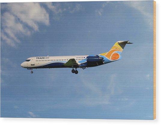 Trade Air Fokker 100 Wood Print
