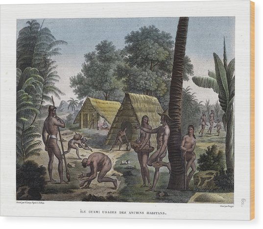 Traditional Customs Of The Chamorro Classes Wood Print
