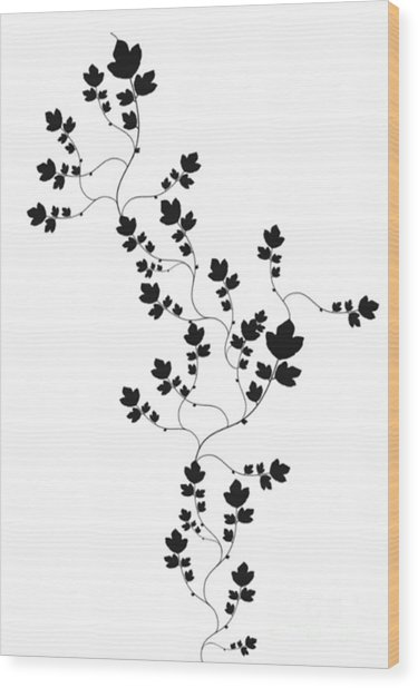 Trailing Leaves Wood Print