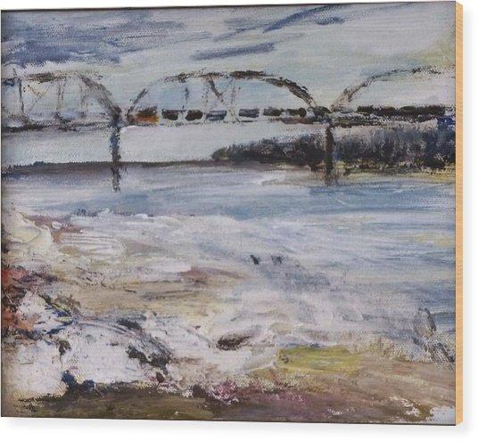 Train Bridge Wood Print