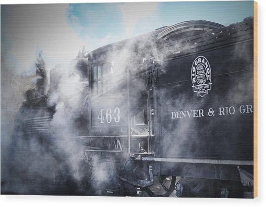 Train Engine 463 Wood Print