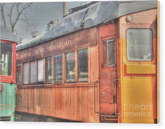 Train Series 5 Wood Print by David Bearden