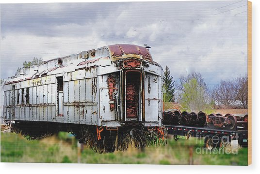Train Tootoot Wood Print
