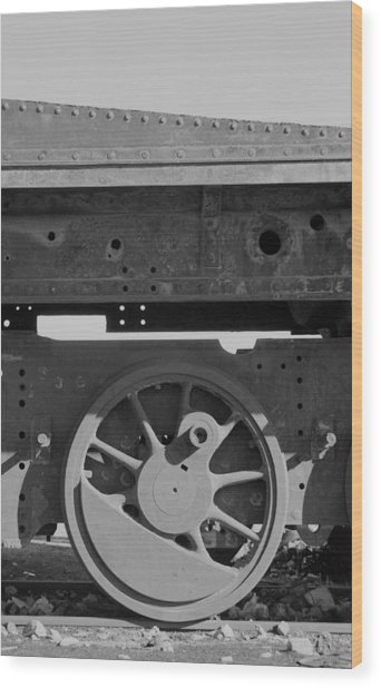Train Wheel Wood Print by Marcus Best