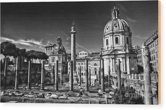 Trajan's Forum - Forum Traiani Wood Print
