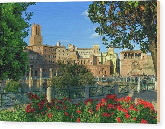Trajan's Forum, Traiani, Roma, Italy Wood Print
