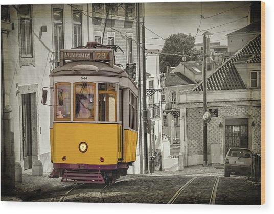 Tram 28 Lisbon Portugal  Wood Print