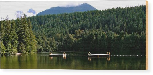 Tranquil Alice Lake Wood Print