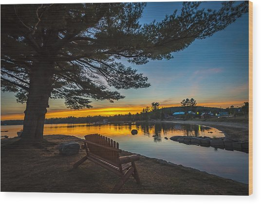 Tranquility At Sunset Wood Print