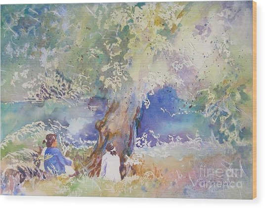 Tranquility At The Brandywine River Wood Print
