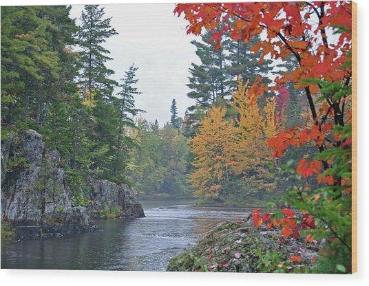 Autumn Tranquility Wood Print