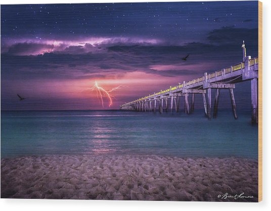 Tranquility- Pensacola Beach Wood Print by Brent Shavnore