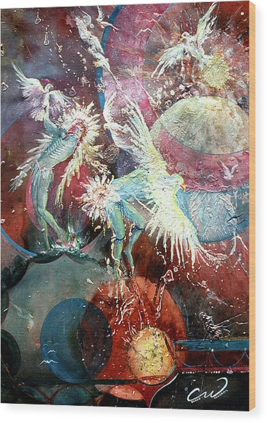 Transcending Indian Spirits Wood Print by Connie Williams