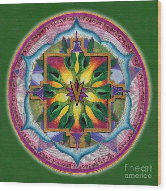 Transformation Mandala Wood Print