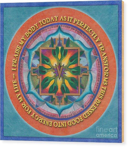 Transformation Mandala Prayer Wood Print