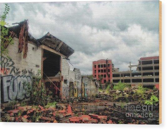 Apocalypse Detroit 2 Wood Print