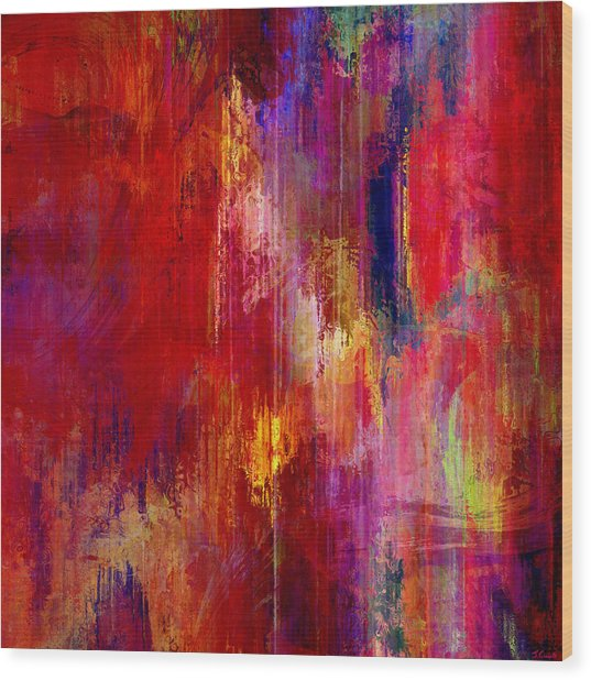 Wood Print featuring the mixed media Transition - Abstract Art by Jaison Cianelli