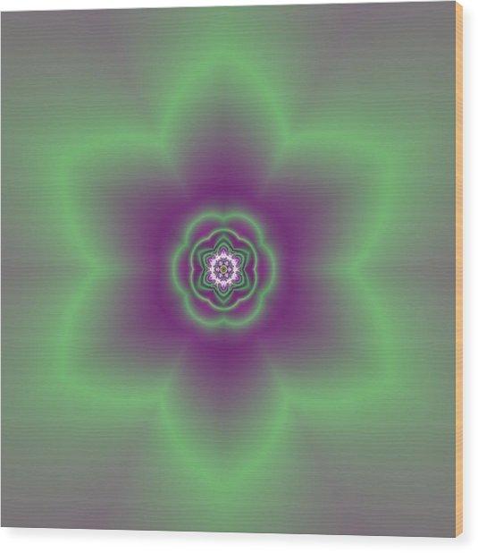 Transition Flower 6 Beats 2 Wood Print