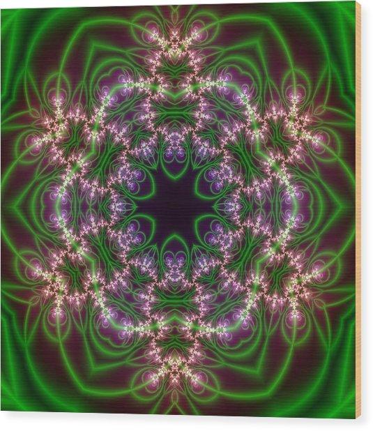 Transition Flower 6 Beats Wood Print
