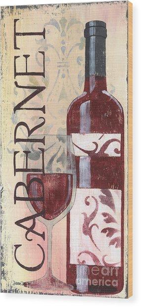 Transitional Wine Cabernet Wood Print