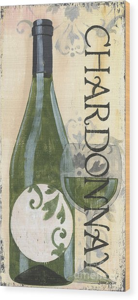 Transitional Wine Chardonnay Wood Print