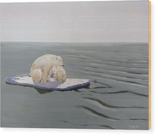 Wood Print featuring the painting Stranded by Kevin Daly