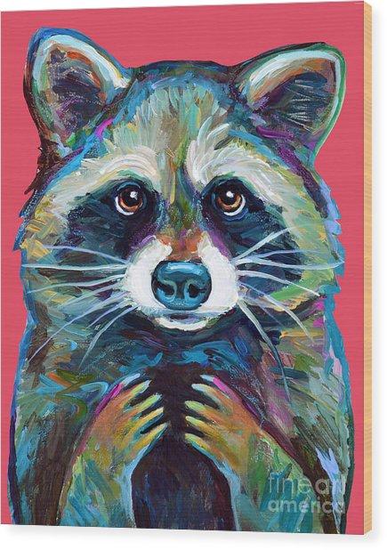 Trash Panda Wood Print