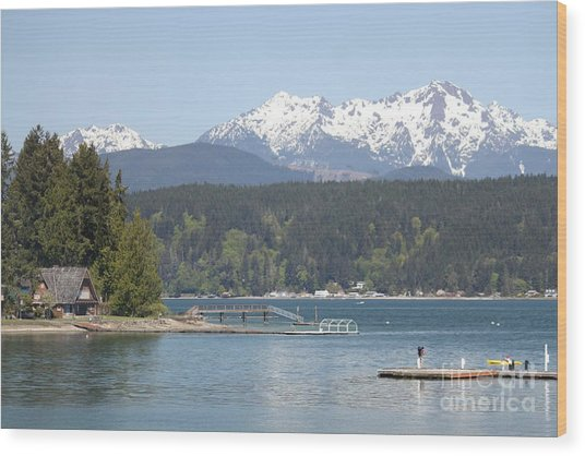 Traveler's Day At Alderbrook Wood Print