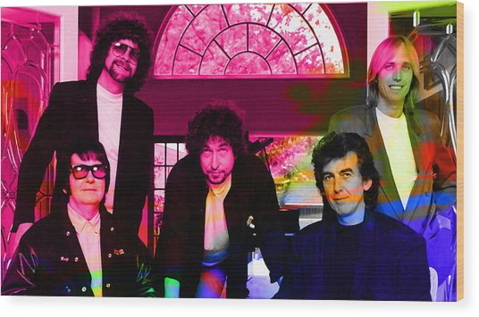 Traveling Wilburys Wood Print