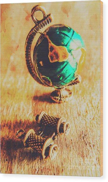 Travellers Globe Wood Print
