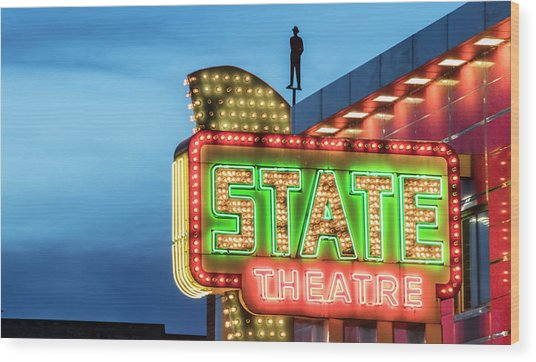 Traverse City State Theatre Wood Print