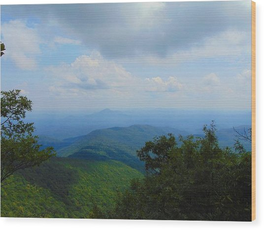 Tray Mountain Summit - North Wood Print