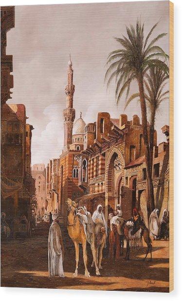 tre cammelli in Egitto Wood Print