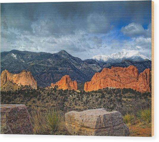 Treasures Of Colorado Springs Wood Print by Tim Reaves