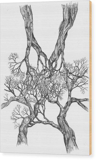 Tree 12 Wood Print