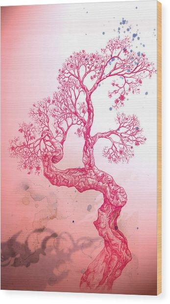 Tree 14 Hybrid 1 Wood Print