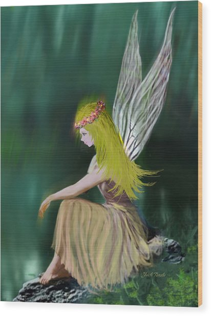 Tree Fairy Wood Print
