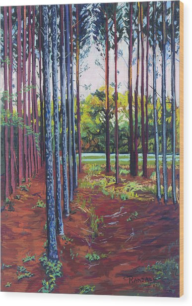 Tree Farm Wood Print